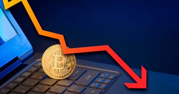 Курс падения биткоина